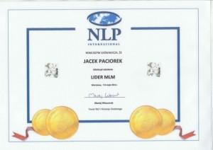 certyfikat_jacek_paciorek_lider_mlm